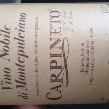 June 2012 Meeting – Wines we tasted